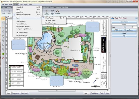 Скриншот программы realtime landscaping architect