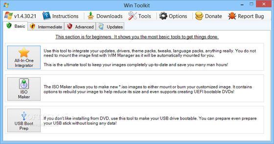 Скриншот программы win toolkit