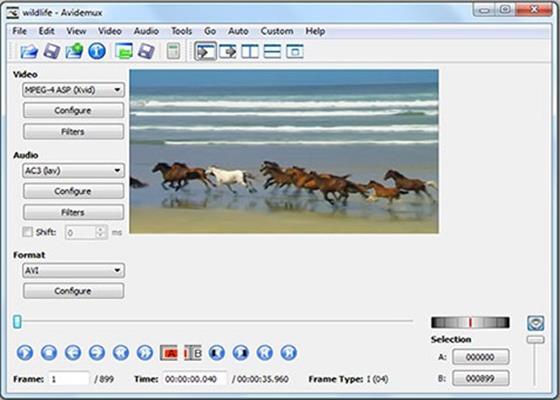 Скриншот программы avidemux для windows 10