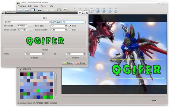 Скриншот программы qgifer