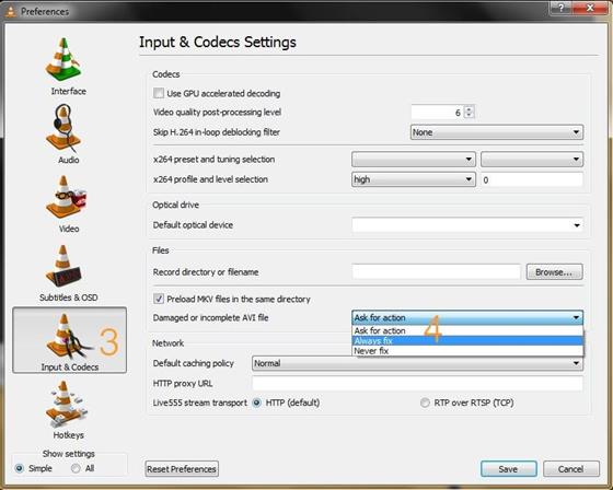Скриншот программы video fixer