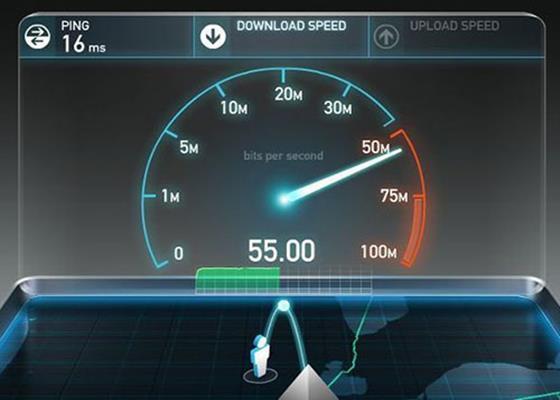 Скриншот программы speedtest
