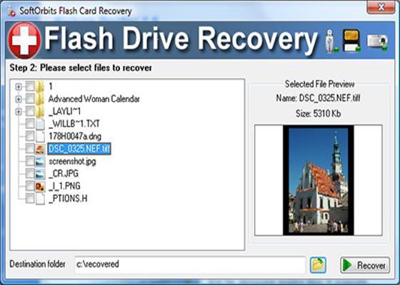 Скриншот программы usb flash drive recovery
