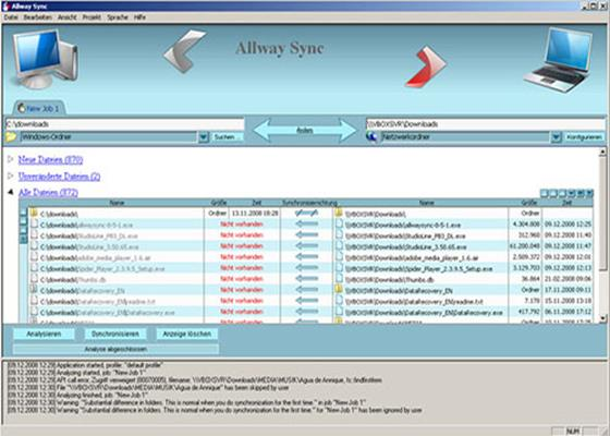 Скриншот программы allway sync