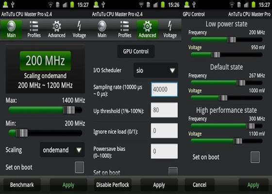 Скриншот программы cpuboost