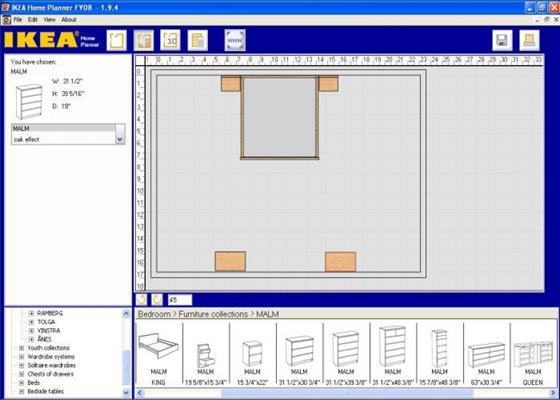 Скриншот программы ikea home planner