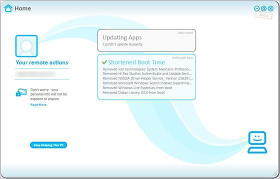 Скриншот программы soluto