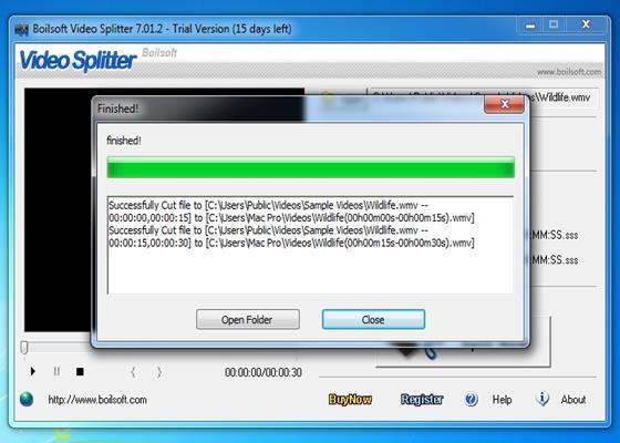 Скриншот программы boilsoft video splitter