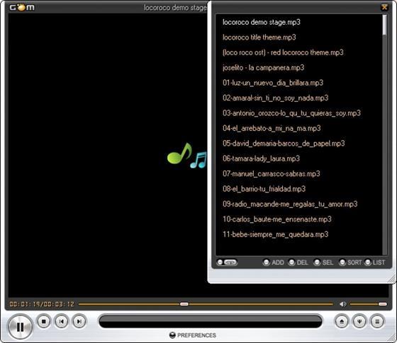 Скриншот программы gom player