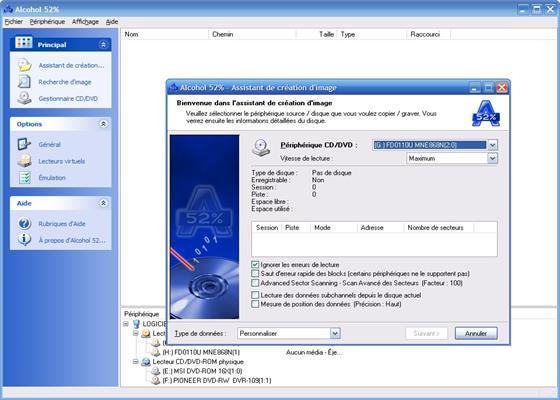 Скриншот программы alcohol 52 для windows 7