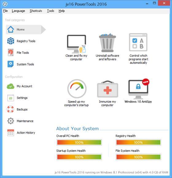 Скриншот программы jv16 powertools