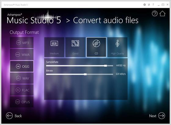 Скриншот программы ashampoo music studio