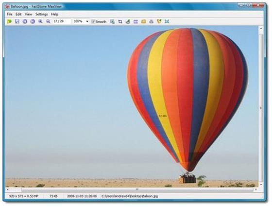 Скриншот программы faststone maxview