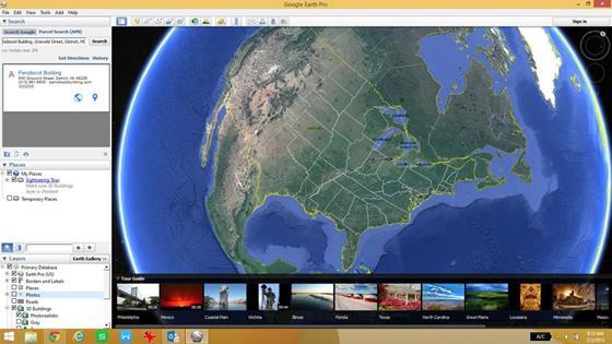 Скриншот программы google earth