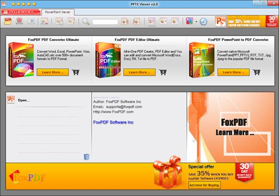 Скриншот программы pptx viewer