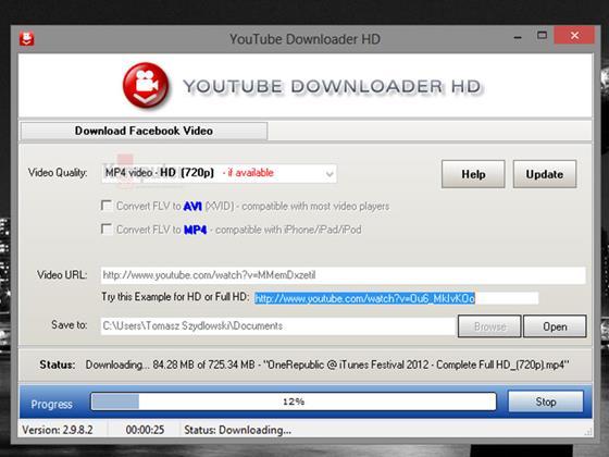 Скриншот программы youtube downloader hd