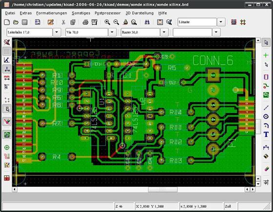 Скриншот программы kicad