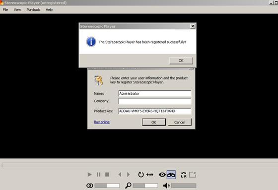 Скриншот программы stereoscopic player