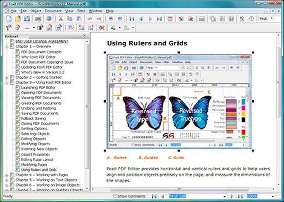 Скриншот программы pdf editor