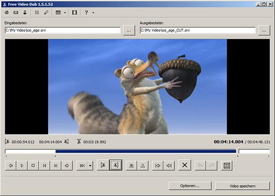 Скриншот программы free video dub