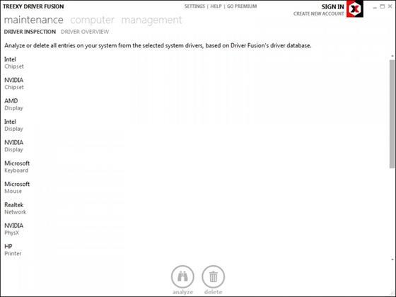 Скриншот программы driver fusion