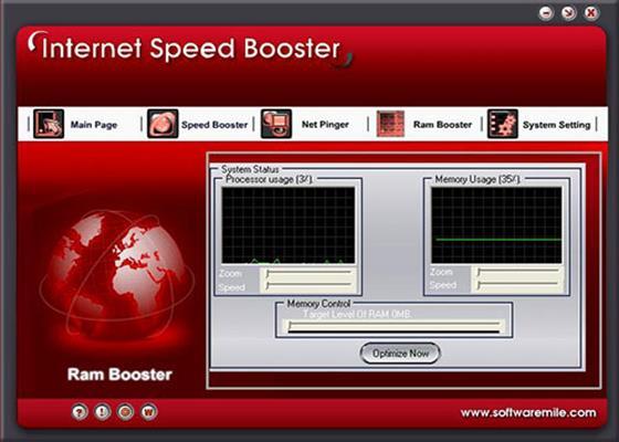 Скриншот программы internet speed booster