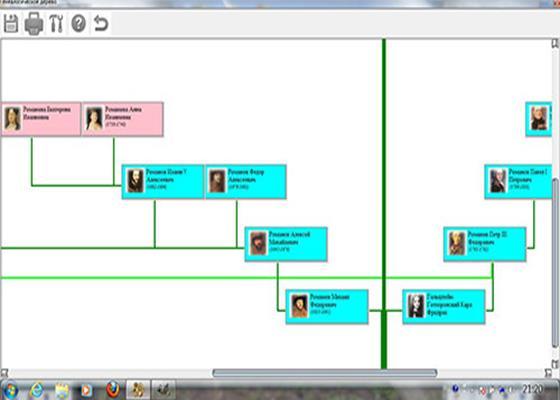 Скриншот программы генеалогическое древо семьи