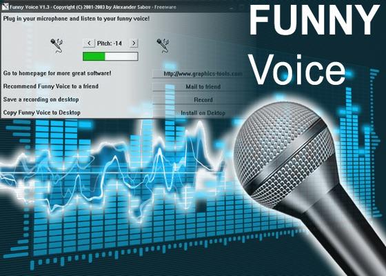 Скриншот программы funny voice для windows 10