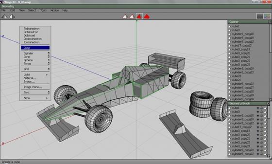 Скриншот программы wings 3d