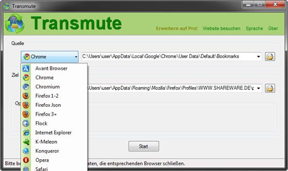 Скриншот программы transmute