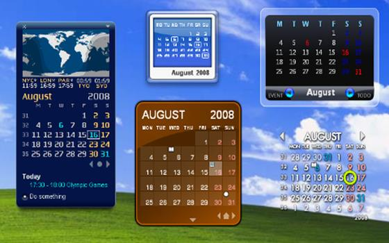 Скриншот программы rainlendar lite