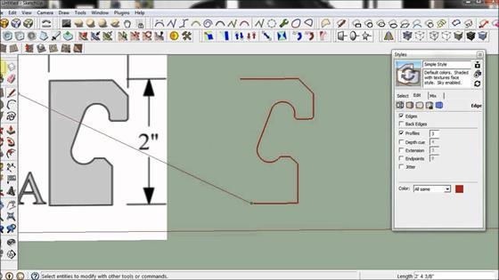 Скриншот программы sketchup
