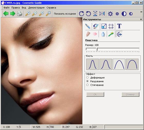 Скриншот программы cosmetic guide