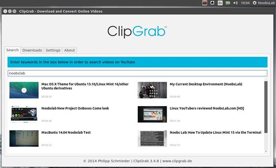 Скриншот программы clipgrab