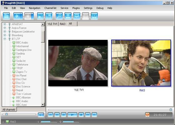 Скриншот программы progdvb для windows 10