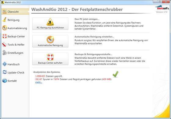 Скриншот программы washandgo