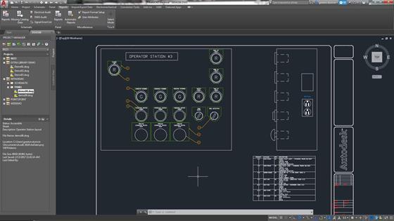 Скриншот программы autocad electrical