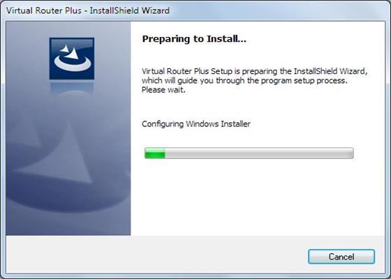 Скриншот программы virtual router plus