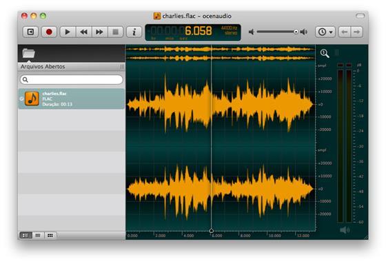 Скриншот программы ocenaudio