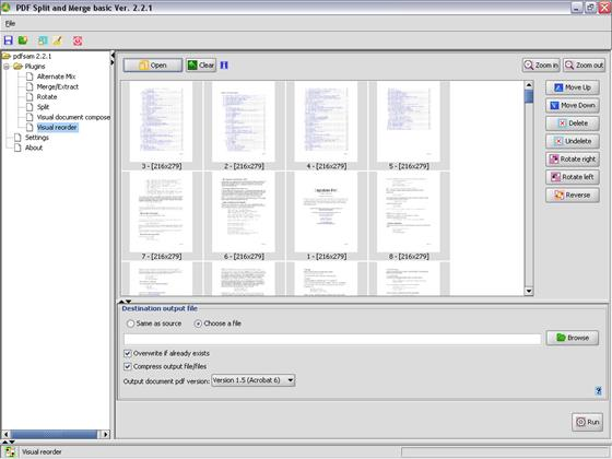 Скриншот программы pdfsam