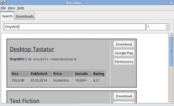 Скриншот программы raccoon