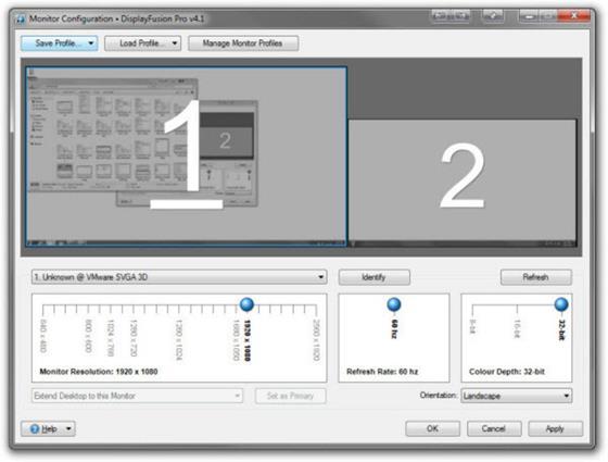 Скриншот программы displayfusion