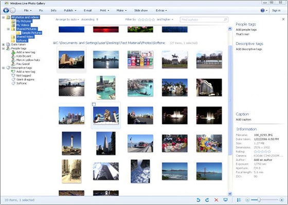 Скриншот программы windows live photo gallery