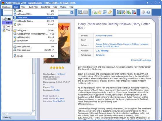 Скриншот программы all my books
