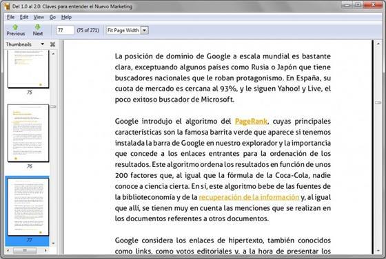 Скриншот программы evince