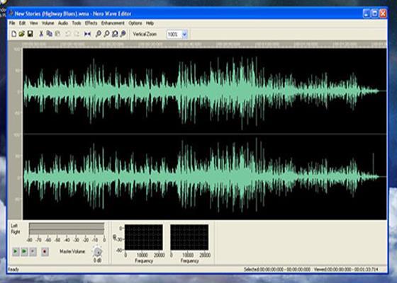 Скриншот программы nero wave editor