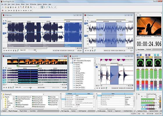 Скриншот программы sony sound forge для windows 10