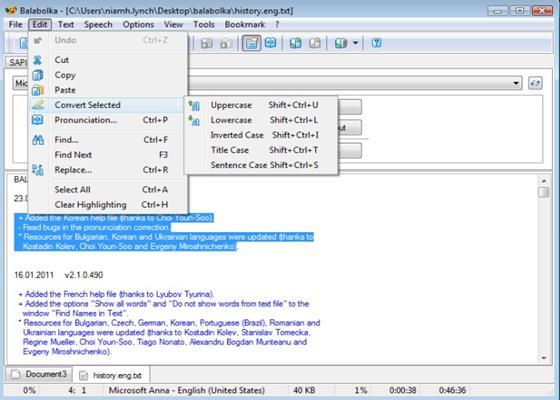 Скриншот программы balabolka
