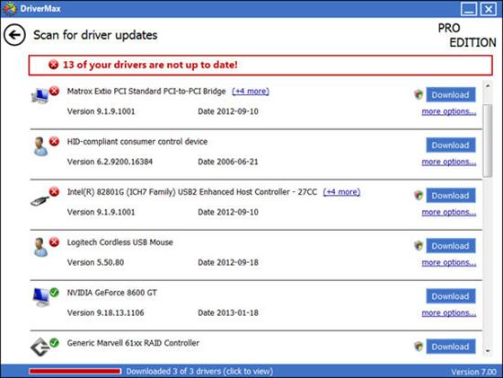 Скриншот программы drivermax