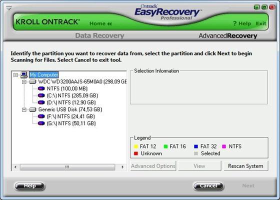 Скриншот программы easyrecovery professional